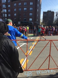 Boston marathon crossing